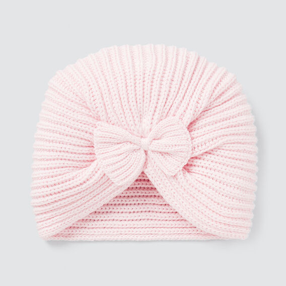 Knitted Bow Turban  ICE PINK  hi-res