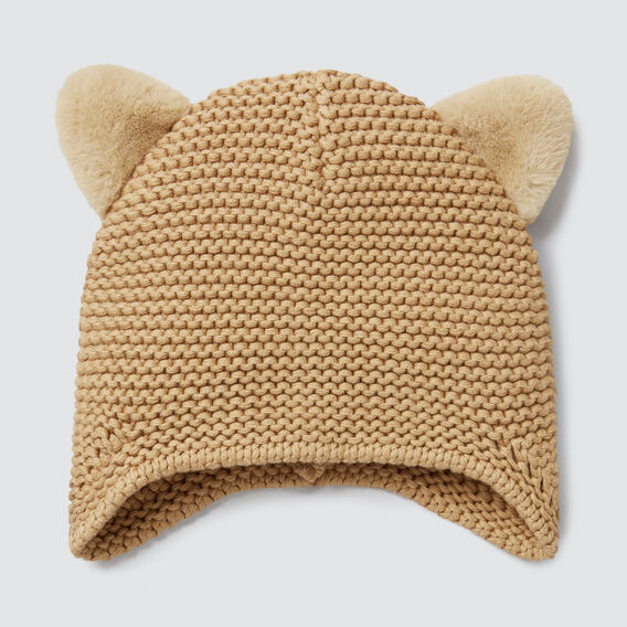 Fluffy Ears Beanie  OAT  hi-res