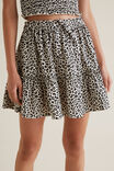 Ocelot Tiered Skirt, OAT LINEN, hi-res