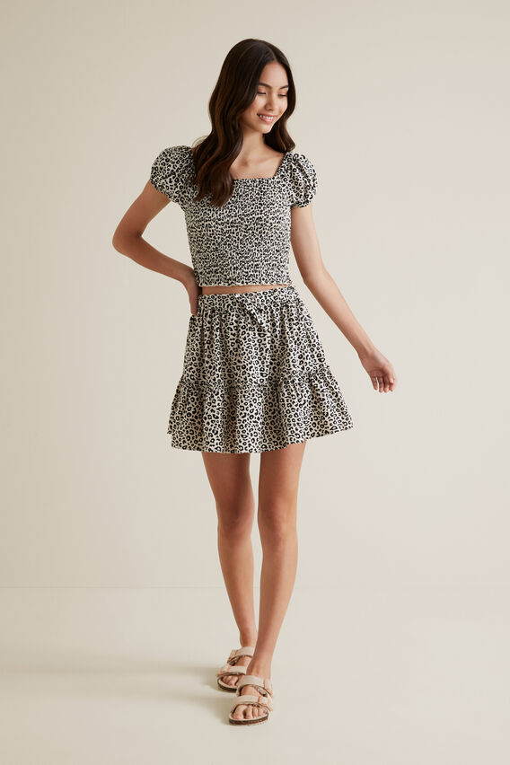 Ocelot Tiered Skirt  OAT LINEN  hi-res