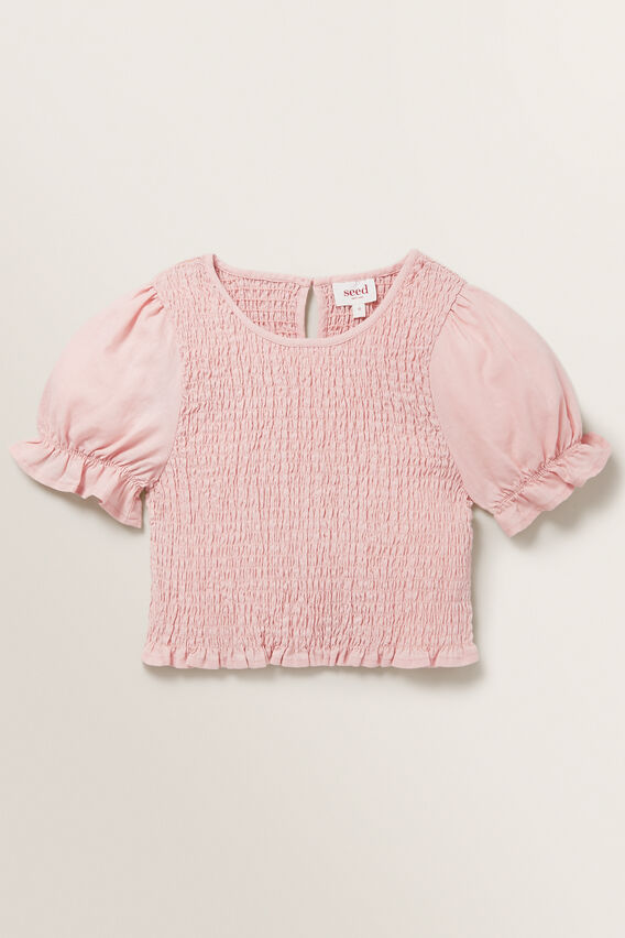 Shirred Top  DUSTY ROSE  hi-res