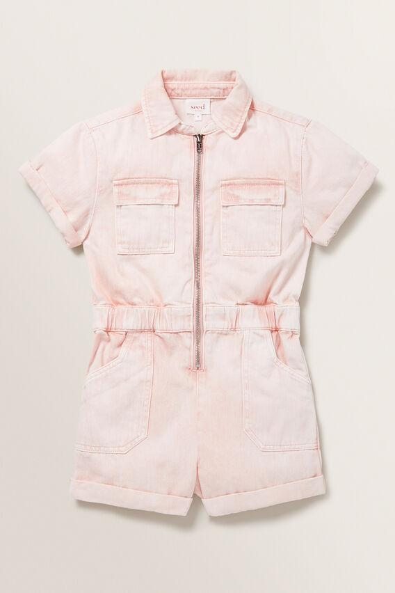 Boiler Suit  ROSE ACID WASH  hi-res
