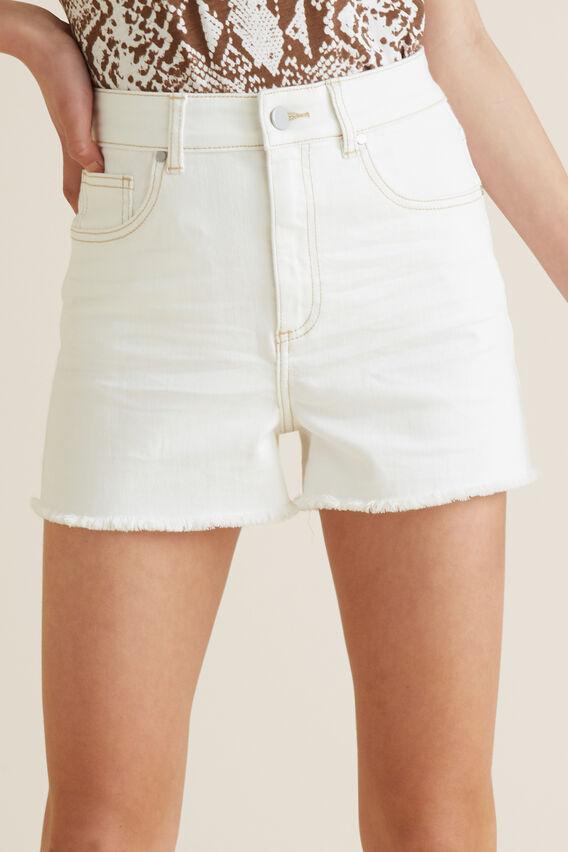 Denim Short  WHITE WASH  hi-res