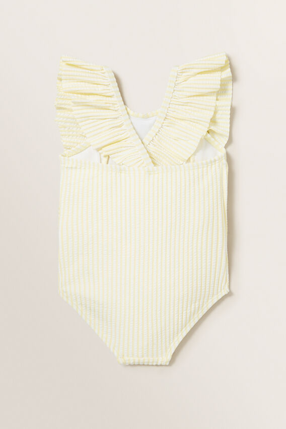 Stripe Seersucker Bather  LEMON SORBET  hi-res
