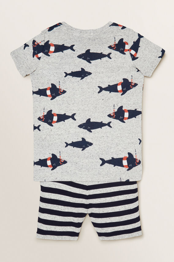 Shark Pyjama  CLOUDY MARLE  hi-res