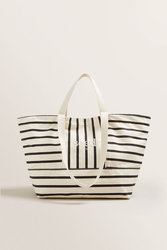 Seed Overnight Bag  BLACK STRIPE  hi-res