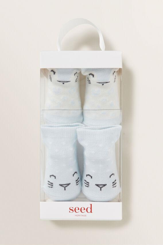 Leopard Socks  BLUE  hi-res