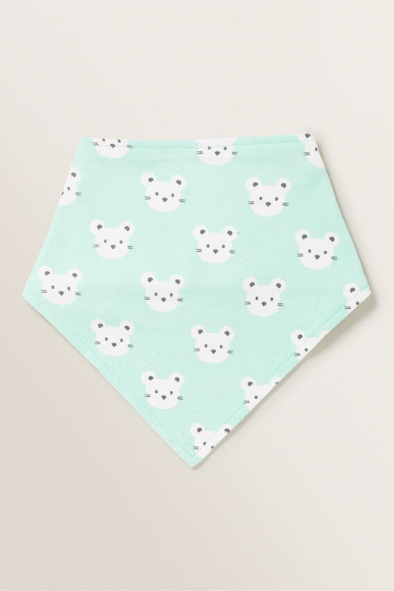 Mouse Print Bandana Bib  COOL MINT  hi-res