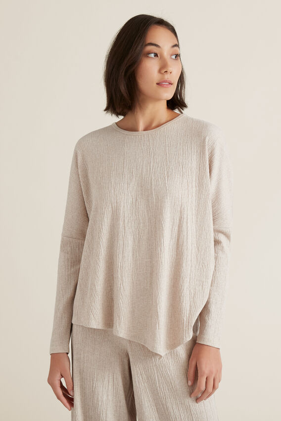 Asymmetrical Sweater  DESERT MARLE  hi-res
