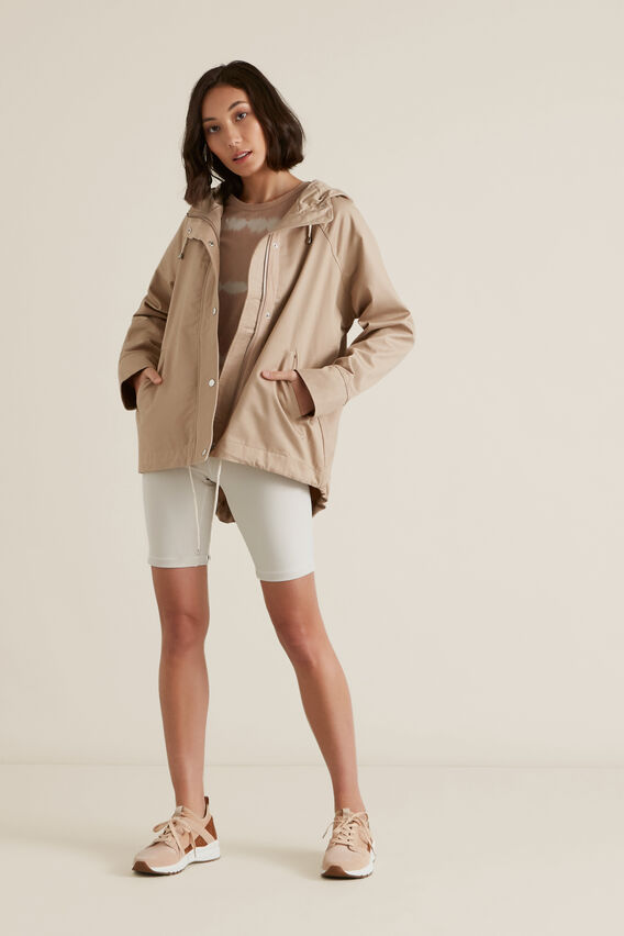Soft Cropped Parka  NEUTRAL BEIGE  hi-res