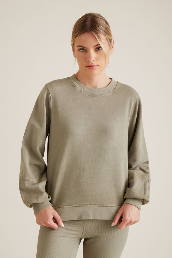 Blouson Sleeve Sweater  SOFT KHAKI  hi-res