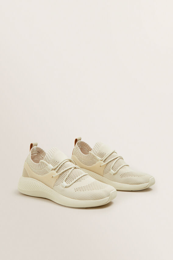 Jessie Knit Sneaker  CREAM  hi-res