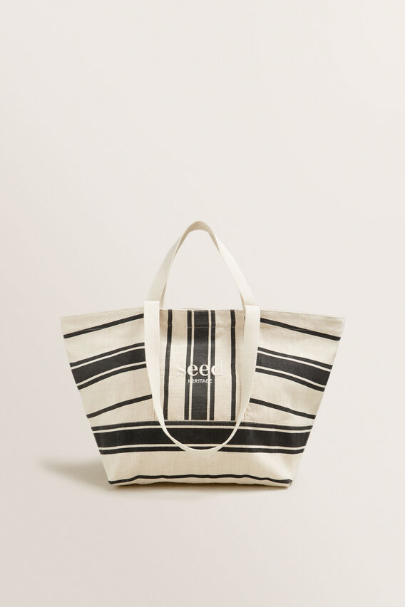 Seed Overnight Bag  CREAM/BLACK STRIPE  hi-res