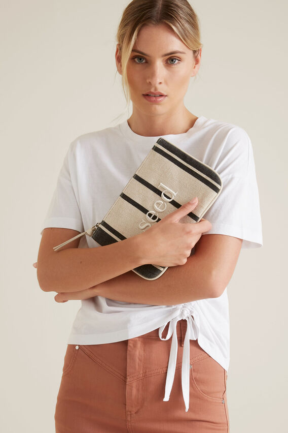 Seed Pouch  CREAM/BLACK STRIPE  hi-res