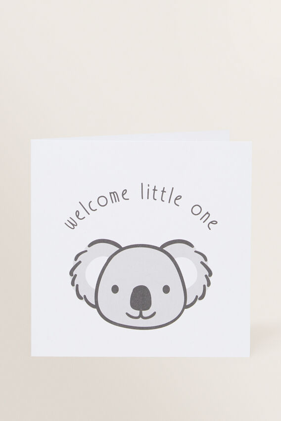 Large Happy Birthday Koala Card  MULTI  hi-res