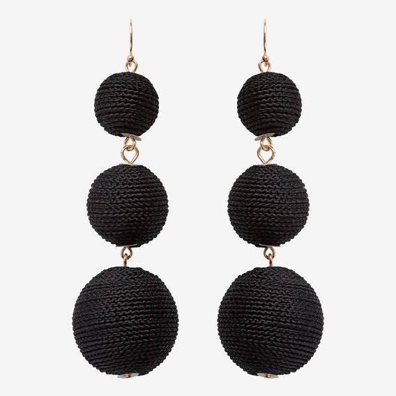 Bauble Earrings  BLACK/GOLD  hi-res