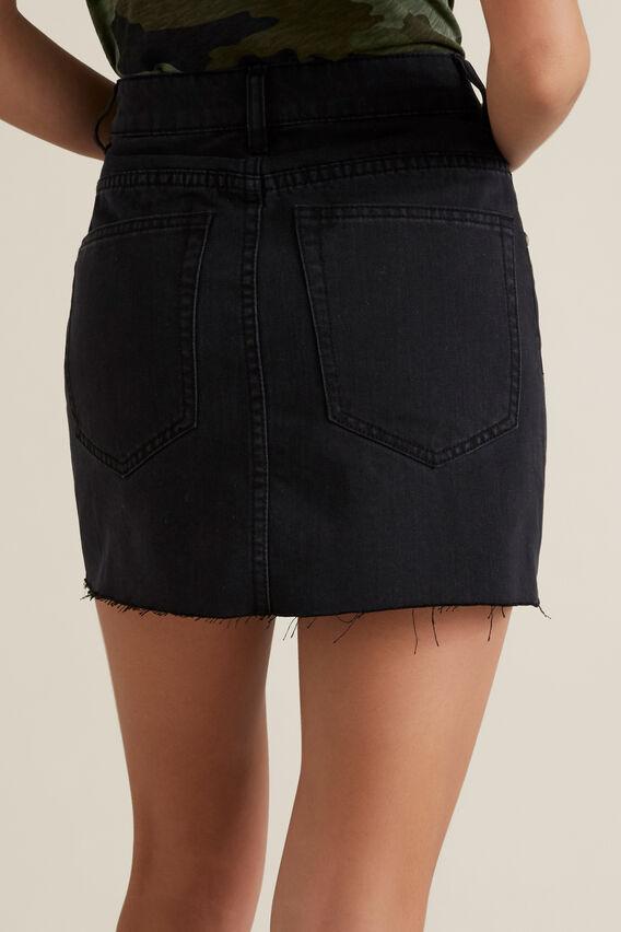 Reworked Denim Skirt  WASHED BLACK  hi-res