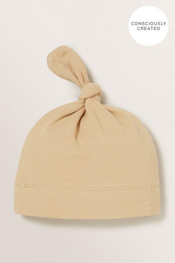 Organic Knot Hat  WHEAT  hi-res