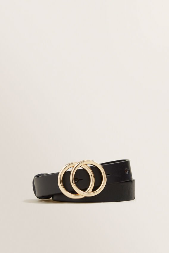 Mini Double Ring Belt  BLACK  hi-res