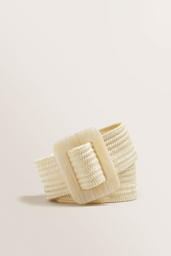 Buckle Waist Belt  CREAM  hi-res