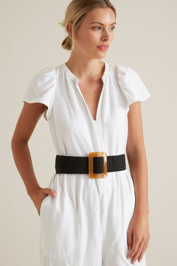Buckle Waist Belt  BLACK  hi-res