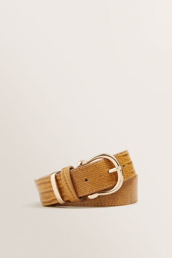 Classic Leather Belt  TAN CROC  hi-res
