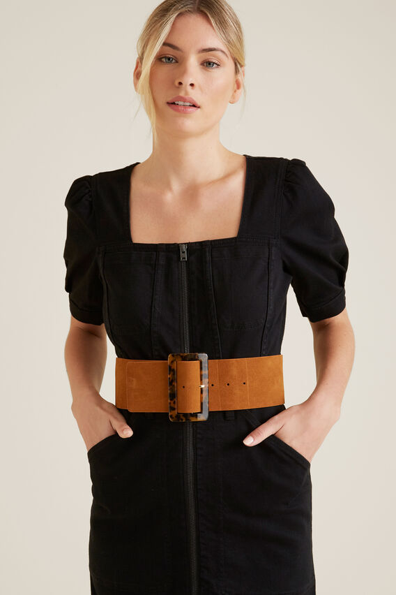 Tort Buckle Waist Belt  TAN  hi-res