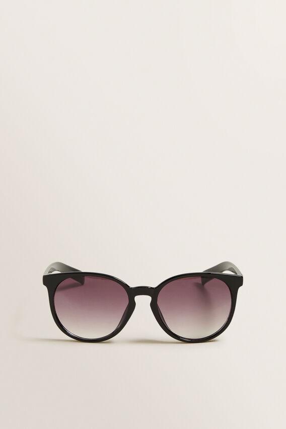 Clara Traditional Round Sunglasses  BLACK  hi-res
