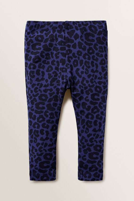 Basic Leggings  NAVY OCELOT  hi-res