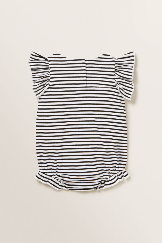 Stripe Jersey Romper  BLACK/WHITE  hi-res