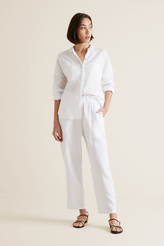 Classic Linen Shirt  WHISPER WHITE  hi-res