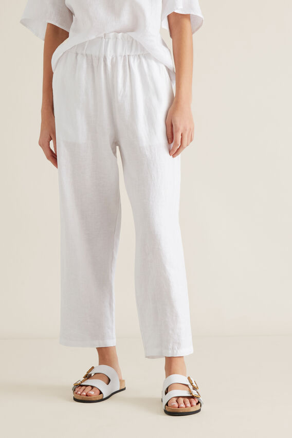 Linen Relaxed Pant  WHISPER WHITE  hi-res