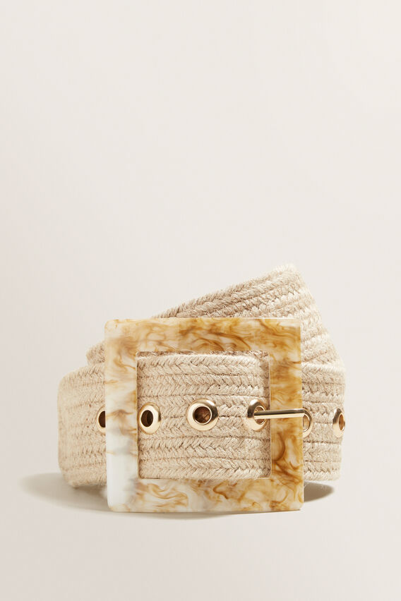 Square Buckle Belt  NATURAL  hi-res