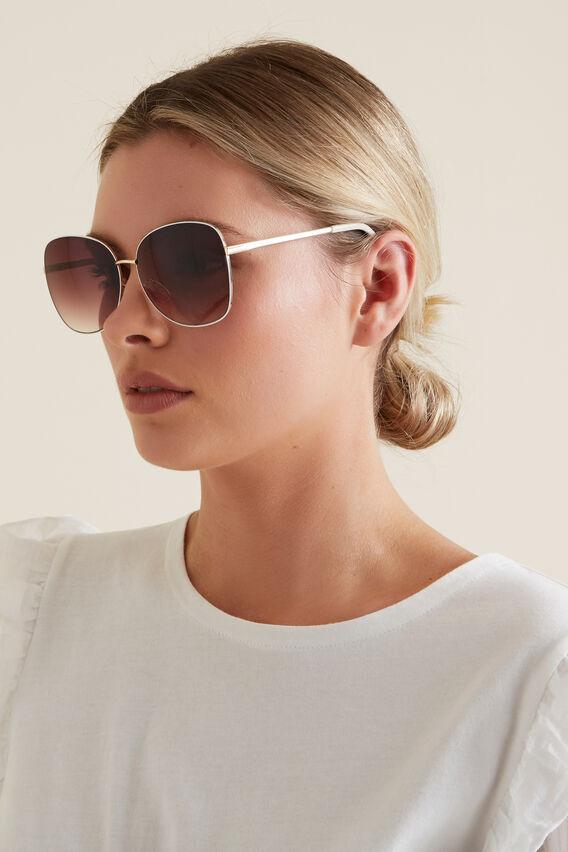 Bailey Metal Sunglasses  WHITE  hi-res