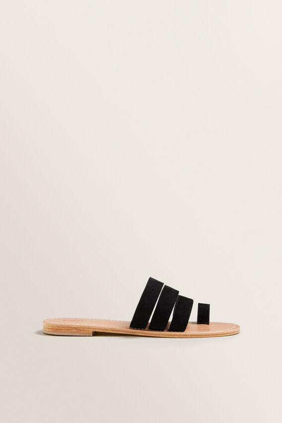 Lea Leather Sandal  BLACK  hi-res