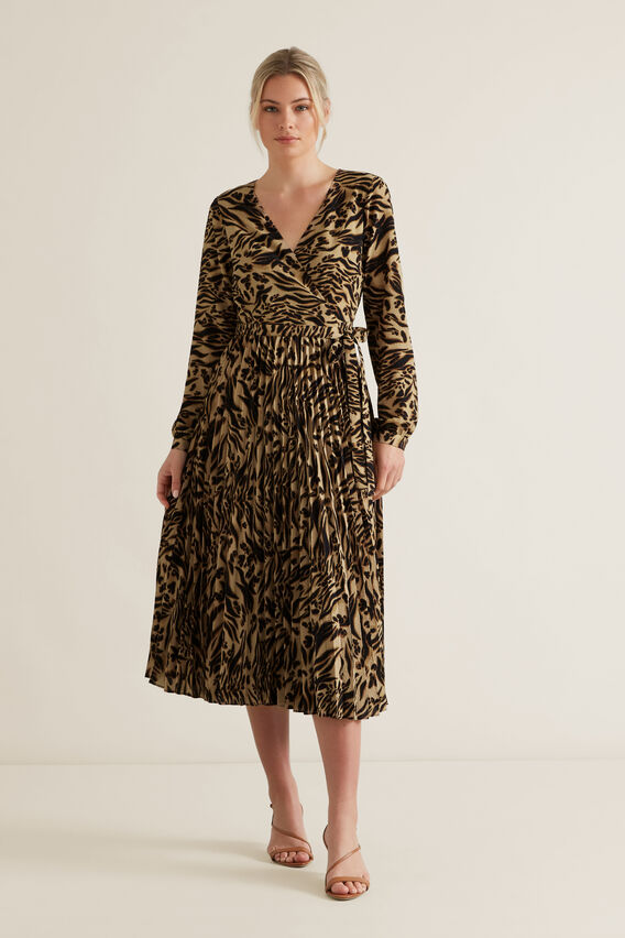 Animal Wrap Dress  ANIMAL  hi-res