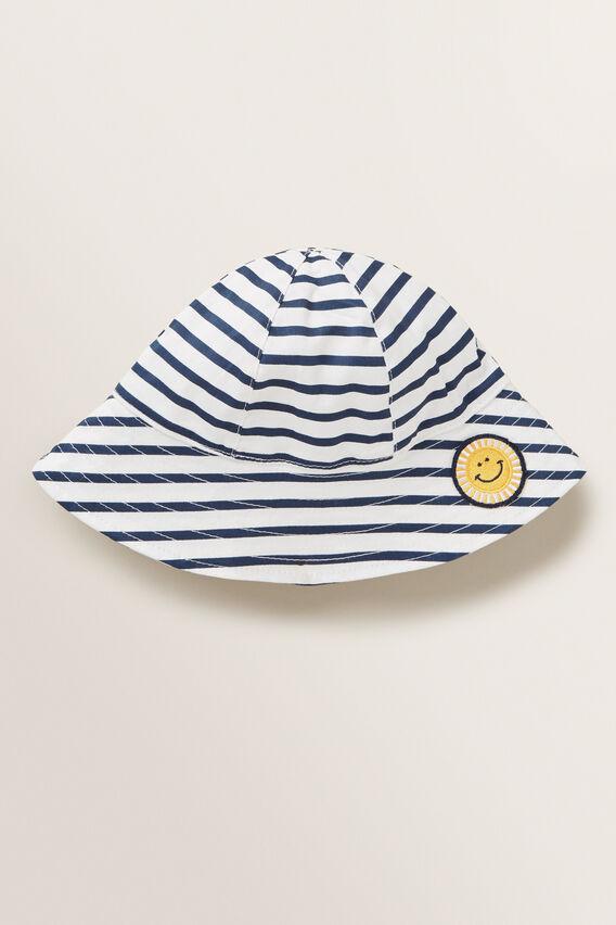 Stripe Smiley Sun Hat  MULTI  hi-res