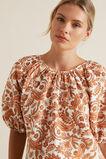 Paisley Linen Blend Blouse  PAISLEY  hi-res