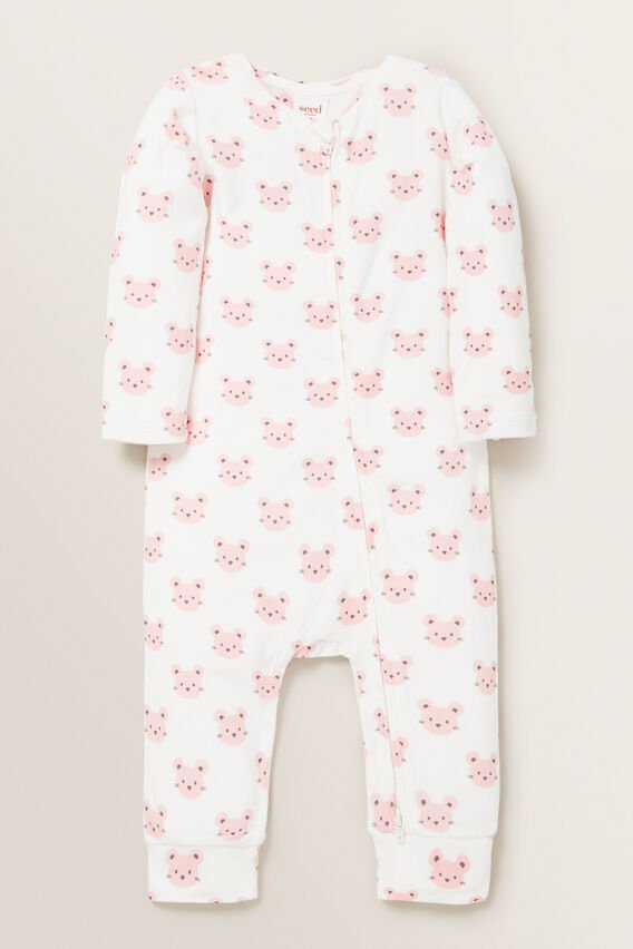 Mouse Print Zipsuit  CANVAS  hi-res