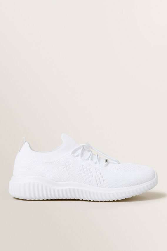 Knit Trainer  WHITE  hi-res