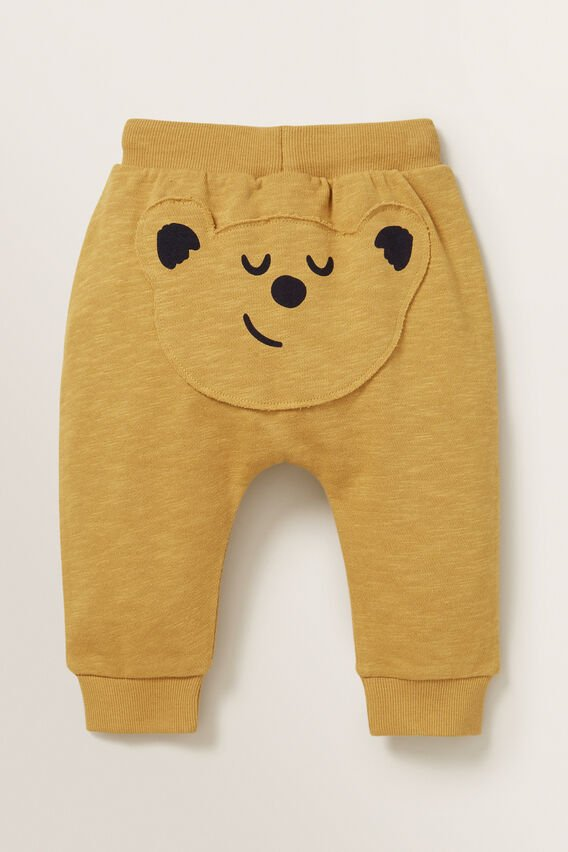 Novelty Bear Trackpant  OCHRE  hi-res