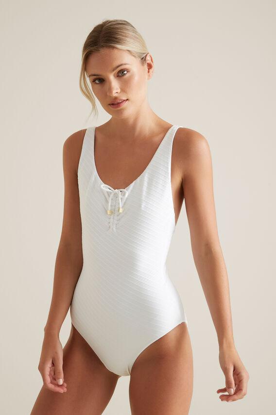 Textured One Piece  WHISPER WHITE  hi-res