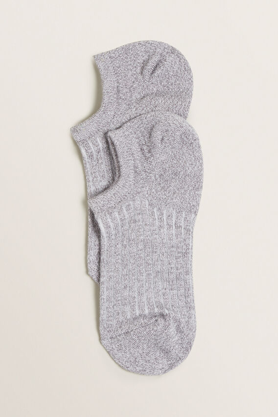 Sneaker Sock  GREY MARLE  hi-res