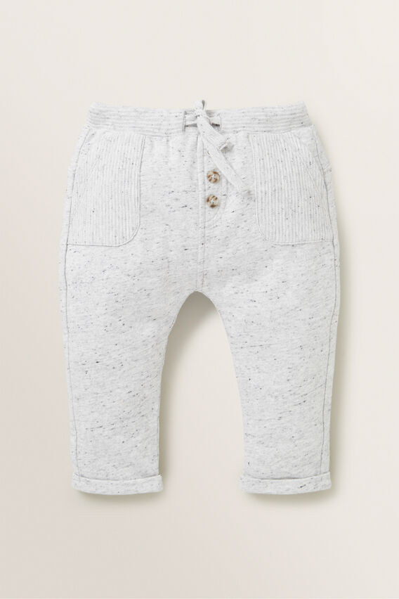 Rib Trackpant  CLOUDY MARLE  hi-res