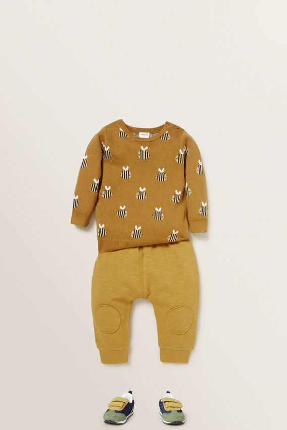 Bee Jacquard Sweater  OCHRE  hi-res
