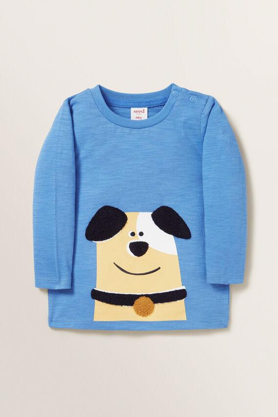 Chenille Dog Tee  CORNFLOWER BLUE  hi-res