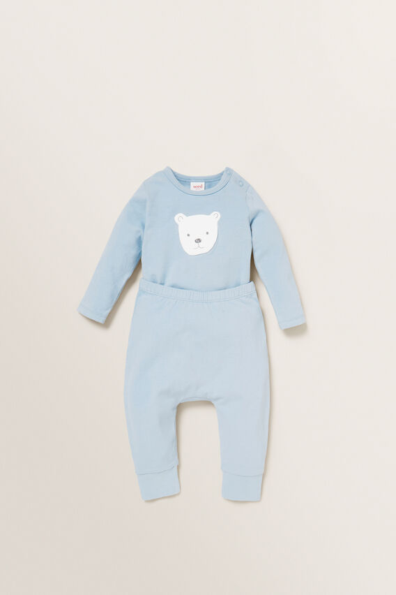 Bear Applique Bodysuit  RAIN  hi-res