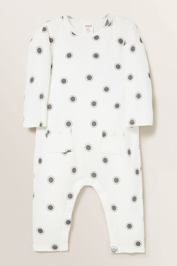 Sun Rib Jumpsuit  CANVAS  hi-res