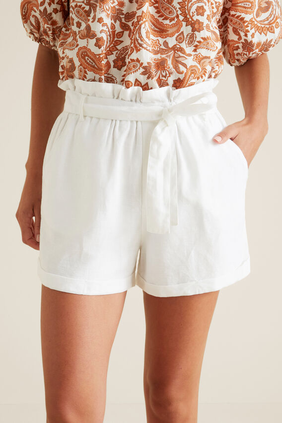 Paperbag Short  WHISPER WHITE  hi-res