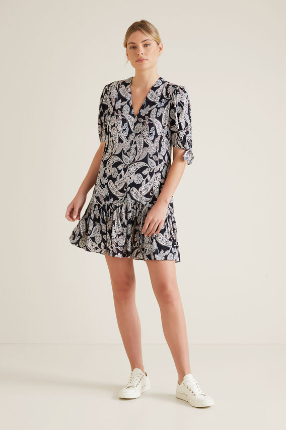 Paisley V-Neck Dress  IRIS PAISLEY  hi-res